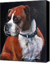 Boxer Pastels Canvas Prints - It Wasnt My Fault Canvas Print by Shirley Leswick