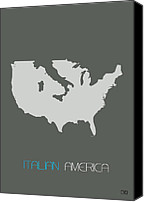 Multicultural Canvas Prints - Italian America Poster Canvas Print by Irina  March