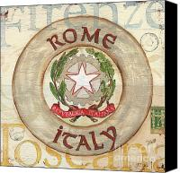 Coat Of Arms Canvas Prints - Italian Coat of Arms Canvas Print by Debbie DeWitt