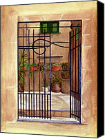 Nan Wright Canvas Prints - Italian Gate Canvas Print by Nan Wright