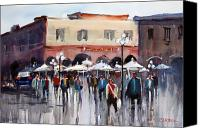 Ryan Radke Canvas Prints - Italian Marketplace Canvas Print by Ryan Radke