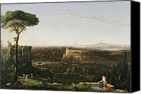 Cole Canvas Prints - Italian Scene Composition Canvas Print by Thomas Cole