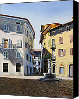 Paul Walsh Canvas Prints - Italian street Canvas Print by Paul Walsh