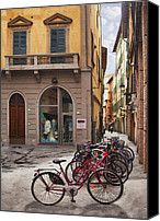 Window And Doors Canvas Prints - Italian Transportation Canvas Print by Sharon Foster