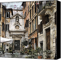 Rome Mixed Media Canvas Prints - Italy arty Canvas Print by Lutz Baar