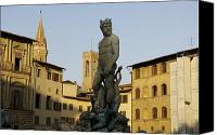 Neptune Canvas Prints - Italy, Florence, Neptune Fountain Canvas Print by Sisse Brimberg & Cotton Coulson