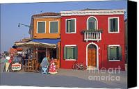Tourist Destinations Canvas Prints - Italy Venice  Canvas Print by Amos Dor