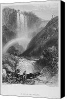 1833 Canvas Prints - Italy: Waterfall, 1833 Canvas Print by Granger