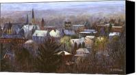 Winter Canvas Prints - Ithaca Winter Canvas Print by Ethel Vrana