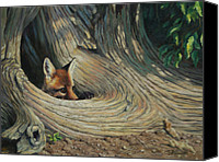 Wild Animal Canvas Prints - Its a Big World Out There Canvas Print by Crista Forest