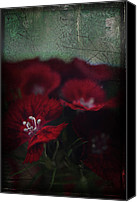 Flowers Digital Art Canvas Prints - Its a Heartache Canvas Print by Laurie Search