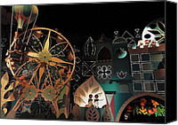 Disneyland Canvas Prints - Its a Small World Canvas Print by Benjamin Yeager