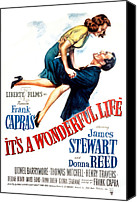 Postv Photo Canvas Prints - Its A Wonderful Life, Donna Reed, James Canvas Print by Everett