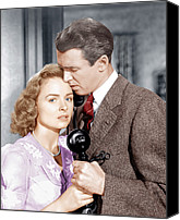 1946 Movies Canvas Prints - Its A Wonderful Life, From Left Donna Canvas Print by Everett