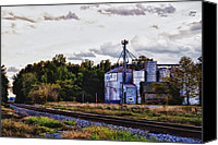 Feed Mill Canvas Prints - Its Graining Canvas Print by Kelly Reber