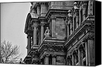 City Hall Canvas Prints - Its in the Details - Philadelphia City Hall Canvas Print by Bill Cannon