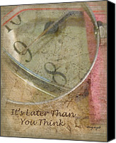 Minute Digital Art Canvas Prints - Its Later Than You Think Canvas Print by Cindy Wright