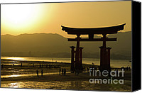 Miyajima Canvas Prints - Itsukushima Shinto Shrine Canvas Print by Sebastian Musial