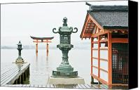Miyajima Canvas Prints - Itsukushima Shrine Canvas Print by Rob Tilley