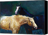 Horse Art Canvas Prints - Ive Got Your Back Canvas Print by Frances Marino