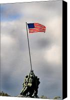 Flag Canvas Prints - Iwo Jima Canvas Print by Lyle  Huisken
