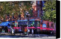 Pioneer Square Canvas Prints - J and M Cafe Canvas Print by David Patterson
