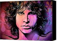 Singer Painting Canvas Prints - J. Morrison Canvas Print by Paul Sachtleben
