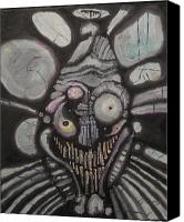 Creepy Painting Canvas Prints - J S. Canvas Print by Ryan Mason
