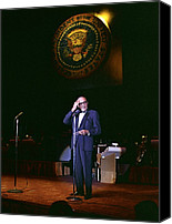 Democrats Canvas Prints - Jack Benny Performs For A Democratic Canvas Print by Everett
