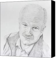 Leader Drawings Canvas Prints - Jack Layton Canvas Print by Daniel Young