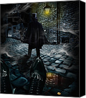 Ghosts Digital Art Canvas Prints - Jack the ripper Canvas Print by Alessandro Della Pietra