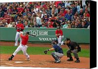 Homerun Canvas Prints - Jacoby Ellsbury Canvas Print by Juergen Roth
