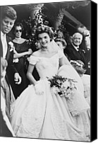 Democrats Canvas Prints - Jacqueline Bouvier Kennedy Emerging Canvas Print by Everett