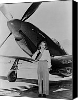 Flyers Canvas Prints - Jacqueline Cochran 1906-1980 American Canvas Print by Everett