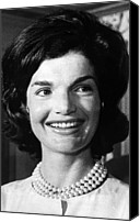 First Ladies Canvas Prints - Jacqueline Kennedy As First Lady. Ca Canvas Print by Everett