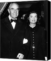 First Lady Canvas Prints - Jacqueline Kennedy In Her First Public Canvas Print by Everett