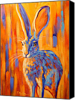 Hare Canvas Prints - Jacquelyn Canvas Print by Theresa Paden