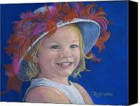 People Pastels Canvas Prints - Jadas Hat Canvas Print by Tanja Ware