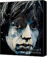 The Rolling Stones Canvas Prints - Jagger no3 Canvas Print by Paul Lovering