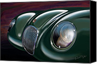 Sports Car Canvas Prints - Jaguar C Type Canvas Print by David Kyte