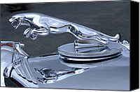 Ron Roberts Photography Canvas Prints - Jaguar Hood Ornament Canvas Print by Ron Roberts