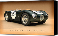 Tony Canvas Prints - Jaguar XK120-C Canvas Print by Pete Chadwell