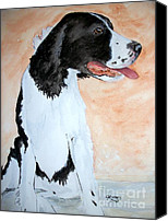 Cannine Canvas Prints - Jake 2 the wonder dog Canvas Print by Carol Grimes