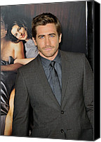 Gray Suit Canvas Prints - Jake Gyllenhaal At Arrivals For Afi Canvas Print by Everett