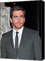 Gray Suit Canvas Prints - Jake Gyllenhaal At Arrivals For Finca Canvas Print by Everett