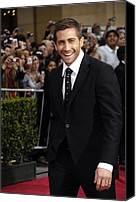 Black Tie Canvas Prints - Jake Gyllenhaal At Arrivals For Prince Canvas Print by Everett