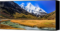 Tibetan Canvas Prints - Jambeyang, Yading Nature Reserve, Sichuan China Canvas Print by Feng Wei Photography