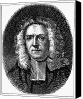 Colonial Man Canvas Prints - James Blair (1655-1743) Canvas Print by Granger