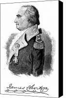 American Revolution Canvas Prints - James Clinton (1733-1812) Canvas Print by Granger