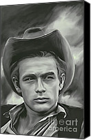 Dean Pyrography Canvas Prints - James Dean   Canvas Print by Andrzej  Szczerski
